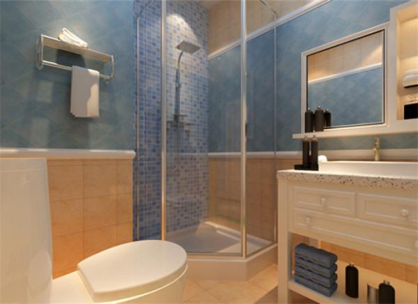 卫生间 简洁式卫生间 设计理念:在格局不大的空间里,设计师充分利用所以空间,带柜子的洗手盆,实用又时尚。