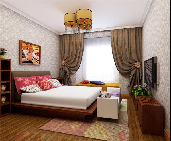 经过沟通交流后,方案定位为东南亚风格,在客厅的背景墙处理上巧妙的将一个次卧的入口和背景墙巧妙的融合成一个整体,