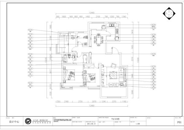 该户型天骥筑璟一期27号楼标准层J户型3室2厅1卫1厨 138.00㎡。