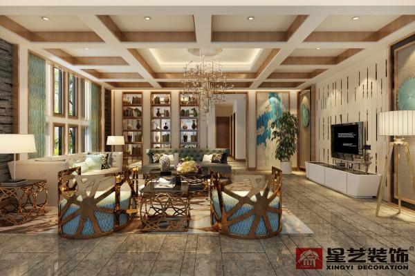 简单的线条、简单的组合,再加入独特背景墙与装饰品,就构成一个舒适简单的客厅空间。