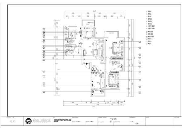 汇康园四室两厅一厨两卫150㎡,我设计的是一套简欧风格的作品