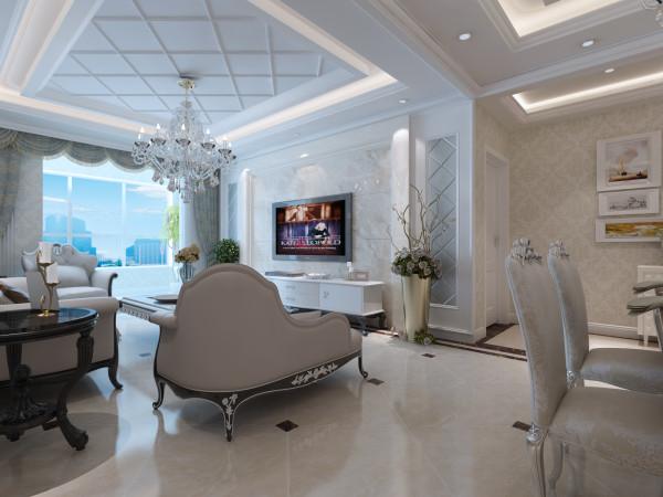 客厅电视墙和吊顶设计