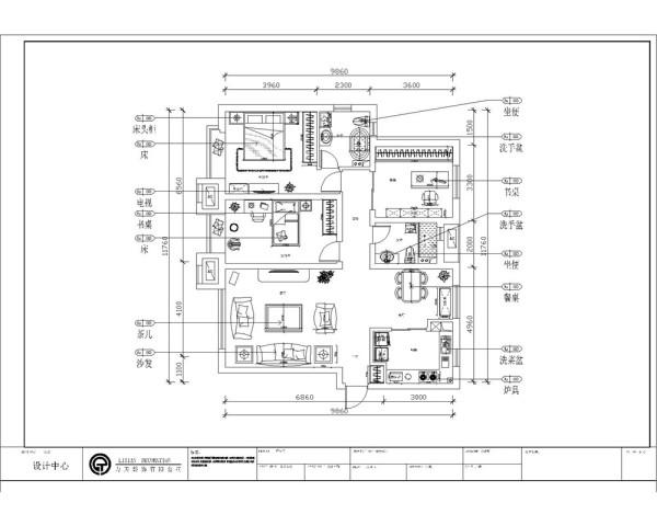 有一个小玄关,放了一个小鞋柜,往里走右边是一个厨房,左边是客厅,客厅正对的是餐厅,餐厅放了四人的餐桌,正对着入户门的是走廊,在走廊的右边是次卫,左边是次卧,在往里走,右边为书房,左边为主卧