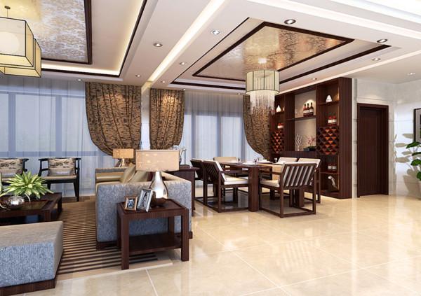 设计理念:该户型最大的亮点就是采光极好,将光线引入室内,充分发挥本源优势,天花上方采用液态光面暗纹涂料与客厅呼应,使客餐厅相互连接彰显宽敞。