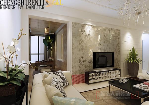 一组金色的沙发打散了这片雅致,委婉的弧线造型简化自欧式古典的繁复体态,光线不同角度照射下呈现出深浅不同的层次变幻,带出了一室的典雅贵气。