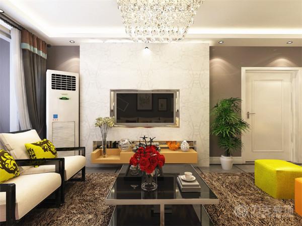 效果图中的建筑材质和光能传递一起使用时给建筑材质提供了较高的真实性,为它配置深色系的现代家具及浅灰色地砖,外加明亮温馨的基调和显著的色彩及装饰品的点缀