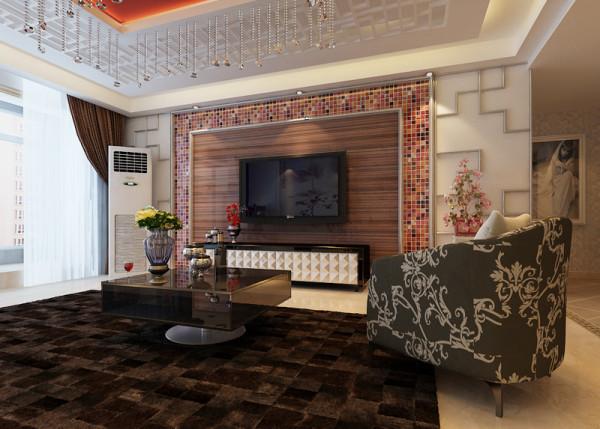 石家庄业之峰装饰-54所159平米新中式风格装修效果图