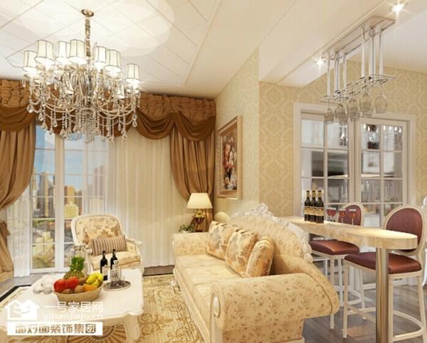 欧式沙发的古朴典雅。