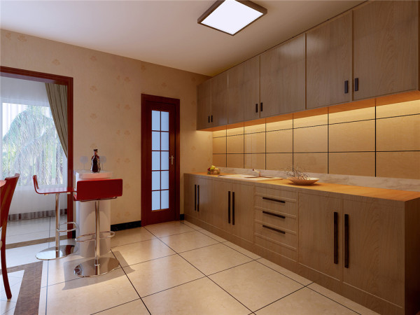 由改变一些结构,提升整体空间使用率,墙面、地面、顶面以及家具陈设乃至灯具等以较为简单的造型。