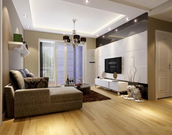 本案由于入户正对的就是客厅,所以在沙发的位置做了个低柜,不至于让整个客厅一览无余。