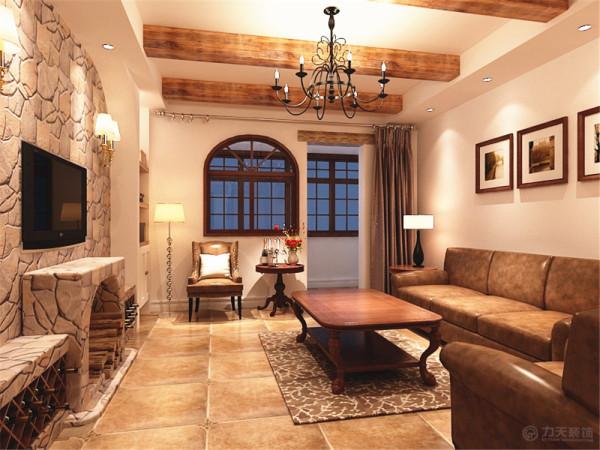 这是一个三室两厅一厨两卫的户型,此案的风格是美式乡村风格。