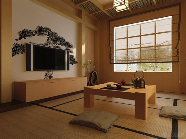 这是一套,大城赞兴旺居10号楼标准层05户型2室2厅1卫1厨 95.77㎡,设计方案为日式风格。