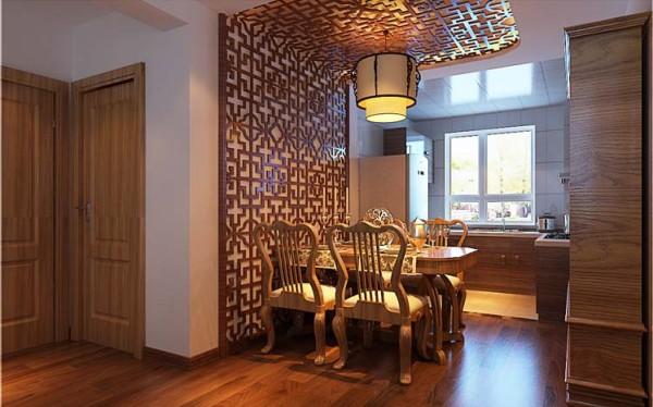一个理想的餐厅能让人们在吃饭时产生一种愉悦的气氛,使每一个人都能感到松弛.通过不同的色彩,不同的灯光分离出就餐区,独立而又整合,是餐厅的装修特点。