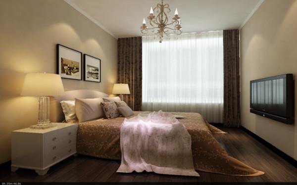 主卧作为业主休憩的场所,同时也需要一个大的储物空间。硬包的床头背景,暖色调的墙面营造出一个温馨舒适的空间,让业主会更放松,超大的步入式衣帽间,实用、大气。