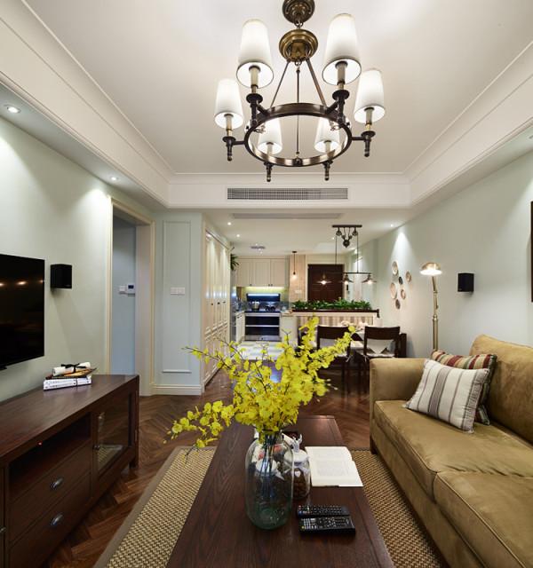 客厅灯饰非常美丽