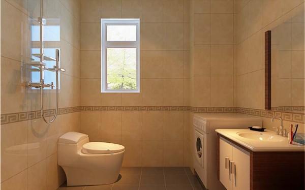 卫生间是家中最隐秘的一个地方,精心对待卫生间,就是精心捍卫自己和家人的健康与舒适。瓷砖选用浅色调,使卫生间看起来宽敞明亮。墙上的小窗虽然不大,但也能起到通风的效果,消除卫生间中聚集的潮气。