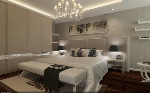 简洁的吊顶,白色的家具一间自然简洁,富有时代气息的卧室就诞生了。白色的书架造型不仅充分利用了整个空间,也显现出房间实用性。清爽淡雅的壁纸给人一种悠闲舒适的感觉,使人轻松自在