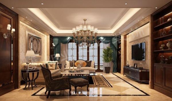 精典的欧式风格客厅效果