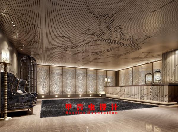 新中式风格饭店设计之门厅角度2装修效果图