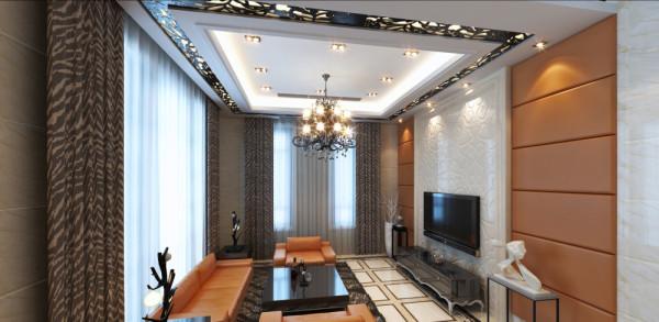 电视背景墙去繁就简,简单的装饰材料,营造出现代化空间。
