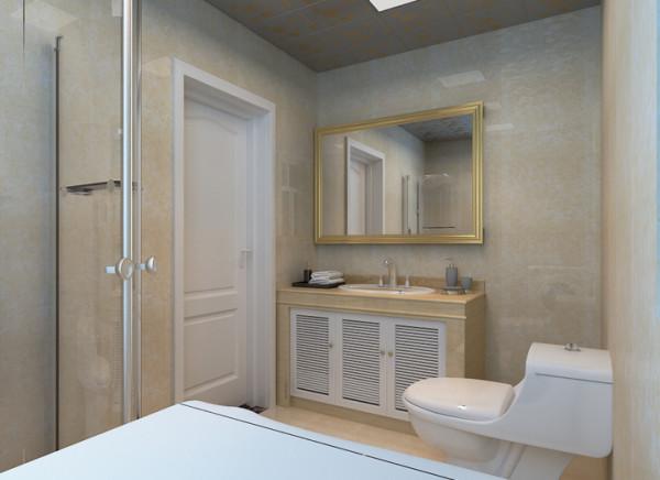 典雅精致的浴室柜搭配琉璃般明亮的地面,让整个空间顿时变得奢华许多,整个空间的布局更大的发挥每个洁具的利用率和空间的使用率。
