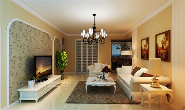西安金辉天鹅湾-98平三居室-美式风格(本小区装修设计86套)
