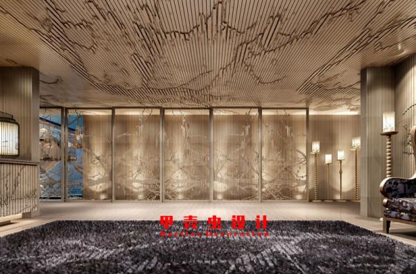 新中式风格饭店设计之门厅角度1装修效果图