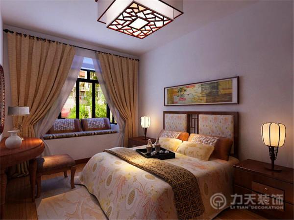 卧室整体没有什么造型。中式风格在设计中不拘一格。