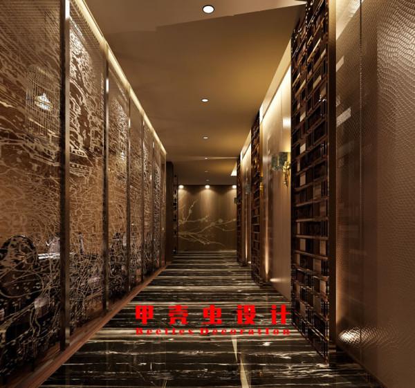 新中式风格饭店设计之过道装修效果图