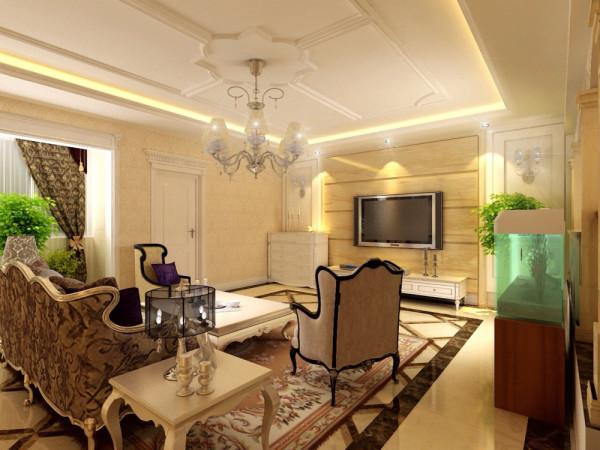 墙面最好用壁纸,或选用优质乳胶漆,以烘托豪华效果。地面材料以石材或地板为佳。欧式客厅非常需要用家具和软装饰来营造整体效果。深色的橡木或枫木家具,色彩鲜艳的布艺沙发,都是欧式客厅里的主角。