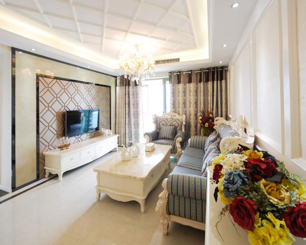 光谷新世界106平,三室两厅,现代欧式完工实景效果图