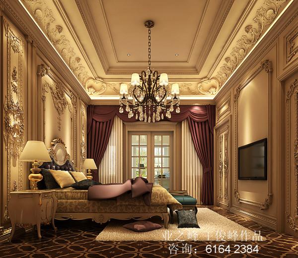 整个卧室以华丽、高雅的理念来设计