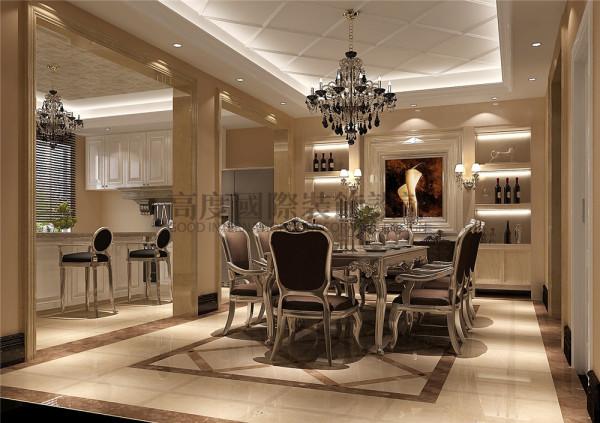 东骏湖景湾餐厅效果细节图 成都高度国际装饰设计