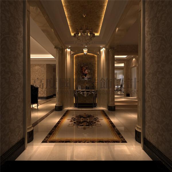 东骏湖景湾玄关效果细节图 成都高度国际装饰设计