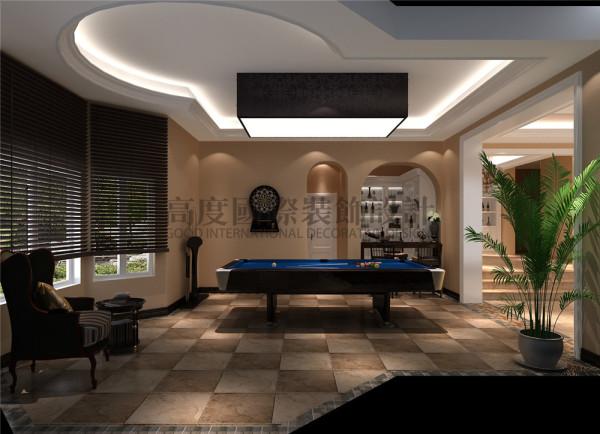 东骏湖景湾地下休闲区效果细节图 成都高度国际装饰设计