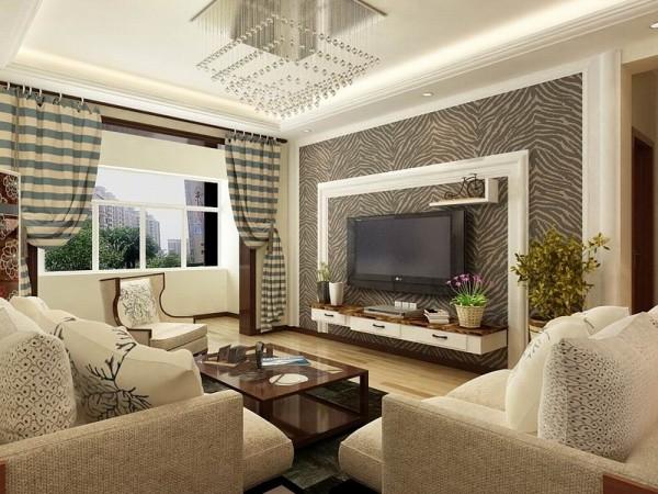 本案是卓越浅水湾两室一厅一厨一卫90㎡,此户型的设计风格为雅致主义。