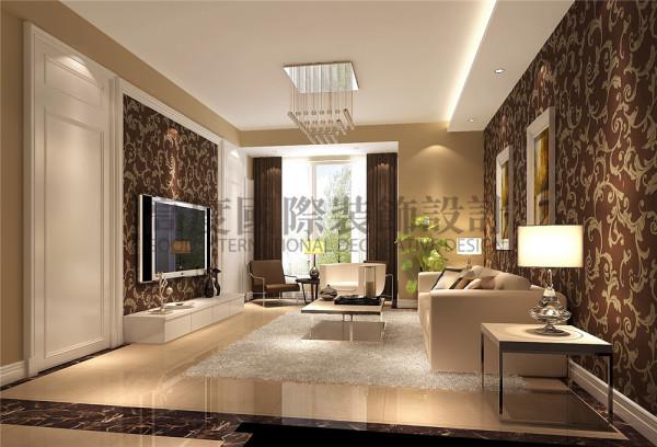 新都交大香悦客厅效果细节图 成都高度国际装饰设计