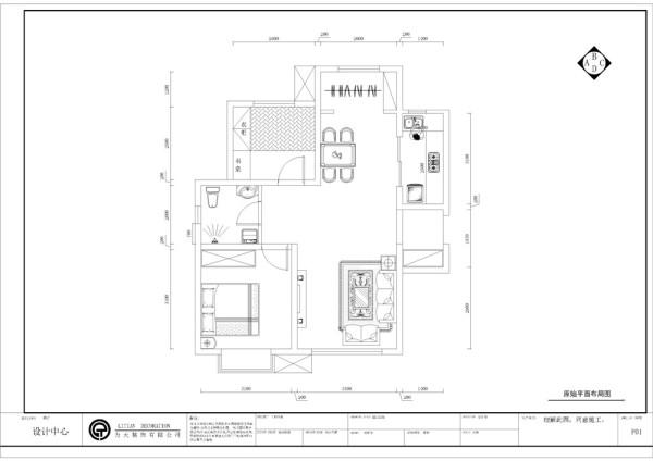入户门左手边是本户型的客厅区,右手边是餐厅区和厨房,厨房和餐厅的距离相离很近,方便用餐。而且客餐厅两面都有窗户,采光较好,阳台区域可供业主晾晒衣物。依次是主卧室卫生间和次卧室。