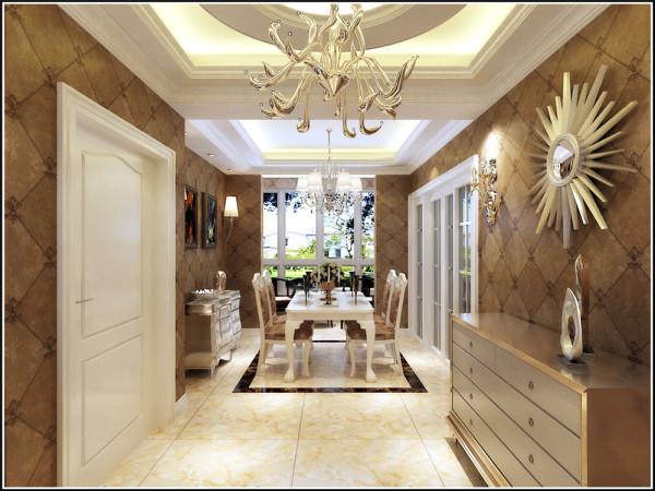 欧式餐厅即西式餐厅风格,渲染,体会异国餐饮情调为目的。拱门的设计是餐厅的一大主亮点。