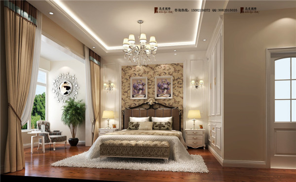 佳乐国际卧室细节效果图-成都高度国际装饰