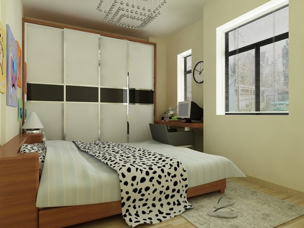主卧室相对来说比较简单,深浅的搭配延伸了客厅的设计,很是统一。处处体现着低调奢华。次卧室则相对活泼些,色彩艳丽的装饰画是很好的点睛之笔,没有繁冗的配饰,整体清新明亮。