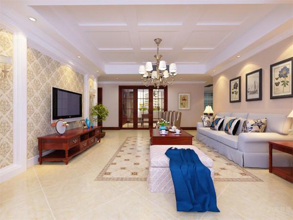 本户型为华夏国际公寓四室两厅一厨三卫174平米的户型,本案设计风格为美式风格。