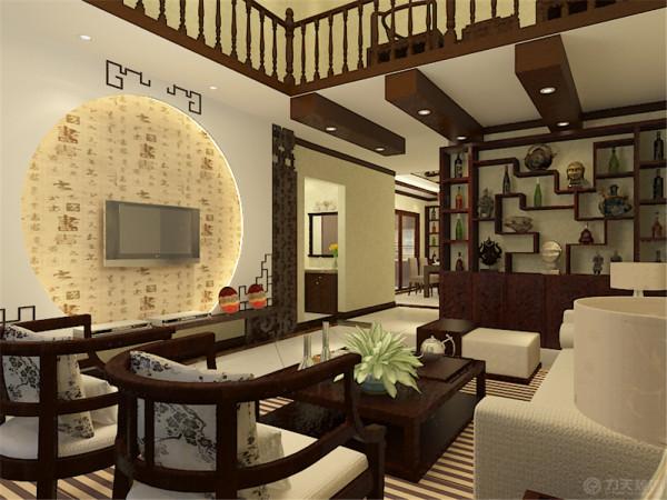 该户户型是珑著219平米,设计风格的定位是中式风格