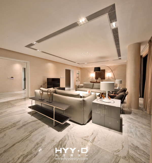 豪宅设计 别墅设计 简约 别墅 客厅图片来自郑鸿在禅意空间——海口西