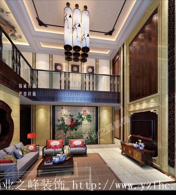 新中式风格装修效果图--成都别墅装修