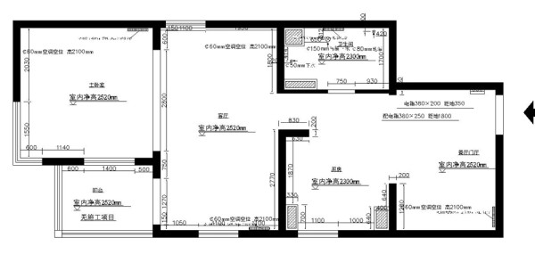 金隅滨河园86平简约时尚案例赏析户型图