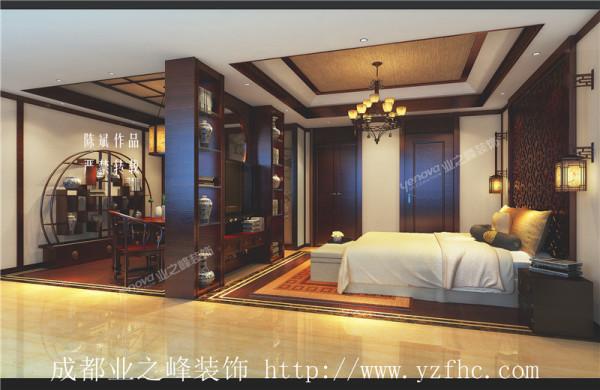 卧室带书房新中式风格