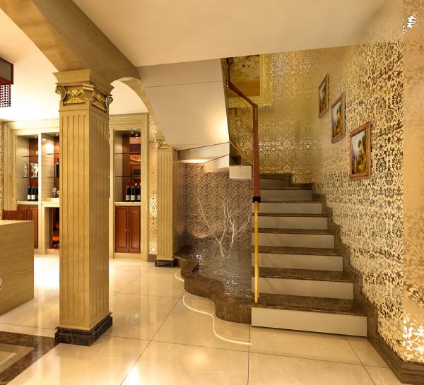 欧式建筑风格是一个统称,是以华丽的装饰、浓烈的色彩、精美的造型达到雍容华贵的装饰效果。本次运用很多棱角、喷泉、罗马柱、大理石这些典型的欧式建筑的材料。开放性的厨房会给人以轻松休闲的感觉。