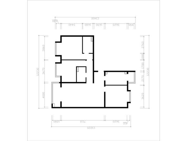 保利金泉126平简欧风格案例赏析户型图