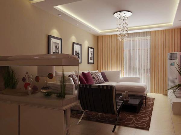 北宁湾三室两厅户型,本案的设计风格为现代简约。